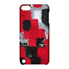 Red Black Gray Background Apple iPod Touch 5 Hardshell Case with Stand