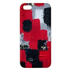 Red Black Gray Background Apple iPhone 5 Premium Hardshell Case