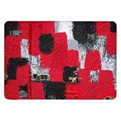 Red Black Gray Background Samsung Galaxy Tab 8.9  P7300 Flip Case