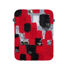 Red Black Gray Background Apple Ipad 2/3/4 Protective Soft Cases