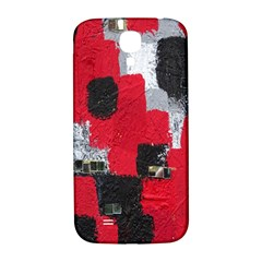 Red Black Gray Background Samsung Galaxy S4 I9500/I9505  Hardshell Back Case