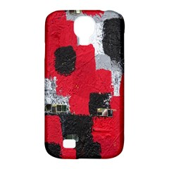Red Black Gray Background Samsung Galaxy S4 Classic Hardshell Case (PC+Silicone)