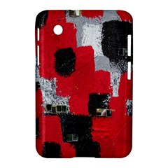 Red Black Gray Background Samsung Galaxy Tab 2 (7 ) P3100 Hardshell Case