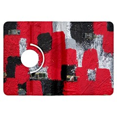 Red Black Gray Background Kindle Fire HDX Flip 360 Case