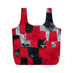 Red Black Gray Background Full Print Recycle Bags (M)