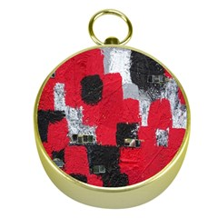 Red Black Gray Background Gold Compasses