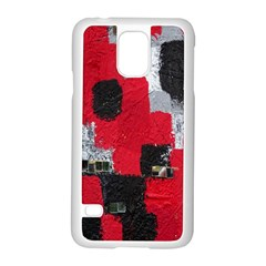 Red Black Gray Background Samsung Galaxy S5 Case (white)