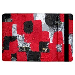 Red Black Gray Background iPad Air 2 Flip