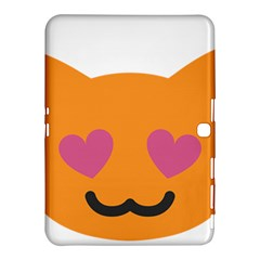 Smile Face Cat Orange Heart Love Emoji Samsung Galaxy Tab 4 (10 1 ) Hardshell Case