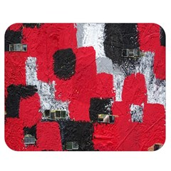 Red Black Gray Background Double Sided Flano Blanket (medium)