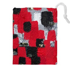 Red Black Gray Background Drawstring Pouches (xxl)