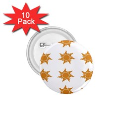 Sun Cupcake Toppers Sunlight 1 75  Buttons (10 Pack)