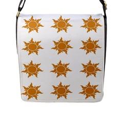 Sun Cupcake Toppers Sunlight Flap Messenger Bag (L)