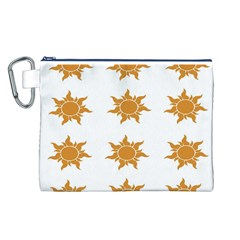 Sun Cupcake Toppers Sunlight Canvas Cosmetic Bag (L)