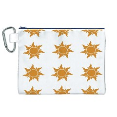 Sun Cupcake Toppers Sunlight Canvas Cosmetic Bag (XL)