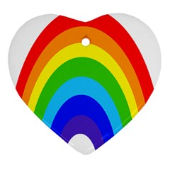 Rainbow Ornament (heart)