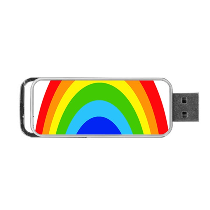 Rainbow Portable USB Flash (One Side)