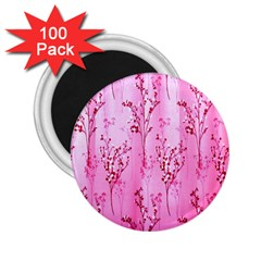 Pink Curtains Background 2.25  Magnets (100 pack)