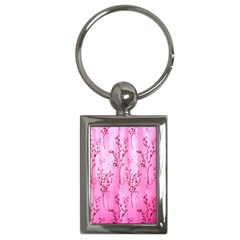 Pink Curtains Background Key Chains (rectangle)