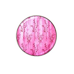 Pink Curtains Background Hat Clip Ball Marker (4 pack)