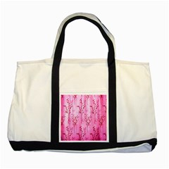 Pink Curtains Background Two Tone Tote Bag
