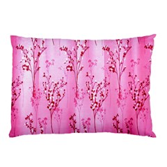 Pink Curtains Background Pillow Case