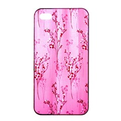 Pink Curtains Background Apple iPhone 4/4s Seamless Case (Black)
