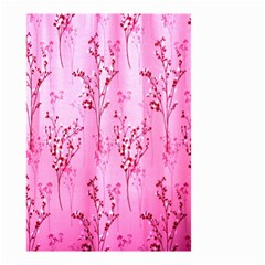 Pink Curtains Background Small Garden Flag (Two Sides)