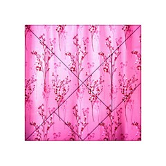 Pink Curtains Background Acrylic Tangram Puzzle (4  x 4 )