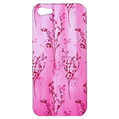 Pink Curtains Background Apple iPhone 5 Hardshell Case