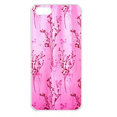 Pink Curtains Background Apple iPhone 5 Seamless Case (White)