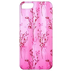 Pink Curtains Background Apple iPhone 5 Classic Hardshell Case