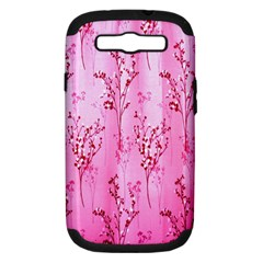 Pink Curtains Background Samsung Galaxy S III Hardshell Case (PC+Silicone)