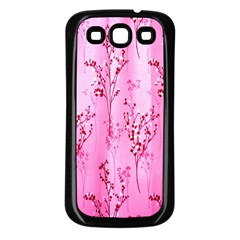 Pink Curtains Background Samsung Galaxy S3 Back Case (Black)