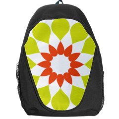 Tikiwiki Abstract Element Flower Star Red Green Backpack Bag
