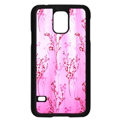 Pink Curtains Background Samsung Galaxy S5 Case (Black)