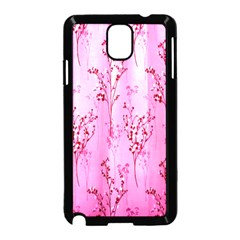 Pink Curtains Background Samsung Galaxy Note 3 Neo Hardshell Case (Black)