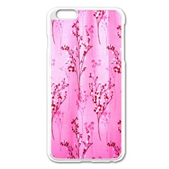 Pink Curtains Background Apple Iphone 6 Plus/6s Plus Enamel White Case