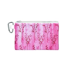 Pink Curtains Background Canvas Cosmetic Bag (s)