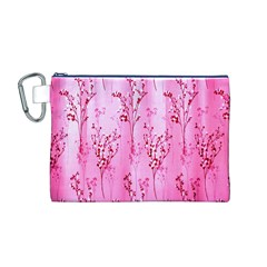 Pink Curtains Background Canvas Cosmetic Bag (m)