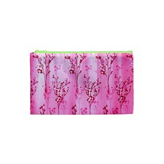 Pink Curtains Background Cosmetic Bag (XS)