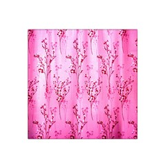 Pink Curtains Background Satin Bandana Scarf