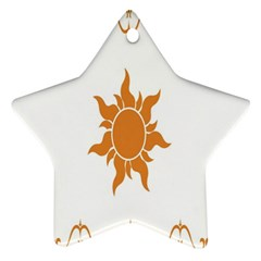 Sunlight Sun Orange Star Ornament (two Sides)