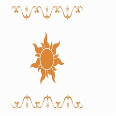 Sunlight Sun Orange Large Garden Flag (two Sides)