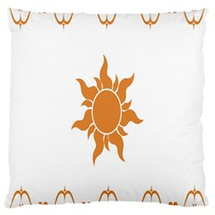Sunlight Sun Orange Large Cushion Case (one Side)