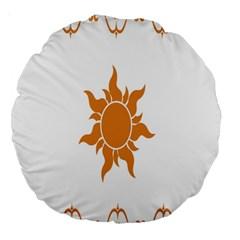 Sunlight Sun Orange Large 18  Premium Round Cushions