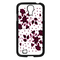 Floral Pattern Samsung Galaxy S4 I9500/ I9505 Case (Black)
