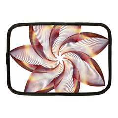 Prismatic Flower Line Gold Star Floral Netbook Case (medium)