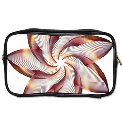 Prismatic Flower Line Gold Star Floral Toiletries Bags