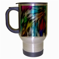 Fur Fabric Travel Mug (Silver Gray)